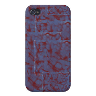 blue and red swirl blocks iPhone 4/4S case