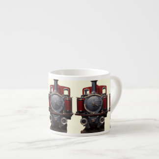 Blue And Red Train Espresso Cup