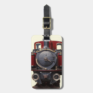 Blue And Red Train Luggage Tag