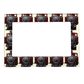 Blue And Red Train Magnetic Photo Frame