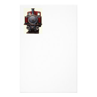 Blue And Red Train Stationery
