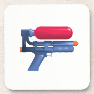 Blue And Red Water Gun Coaster