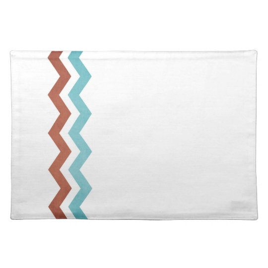 Blue and Red Zig Zag Pattern Placemat