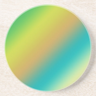 blue and rellow color strips sandstone coaster
