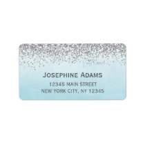 Blue and Silver Address Labels