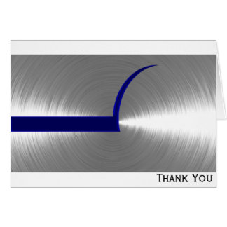 Blue and Silver Brushed Metal Card