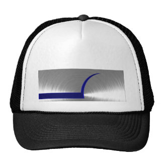 Blue and Silver Brushed Metal Mesh Hats