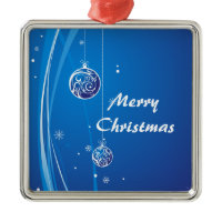 Blue and Silver Christmas Baubles ornament