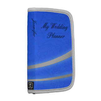 Blue and Silver Damask Wedding Planner