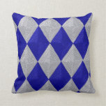 Blue and Silver Diamond American MoJo Pillows