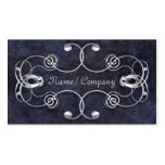 Blue and Silver Elegance Business Cards