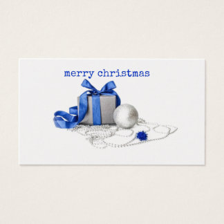 Blue And Silver Festive Art Gift Cards