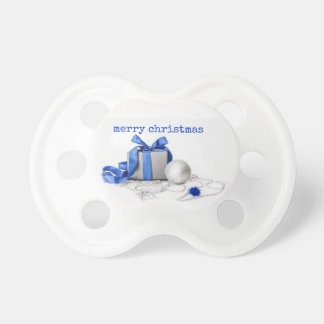 Blue And Silver Festive Art Pacifier