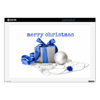 Blue And Silver Festive Art Laptop Decals