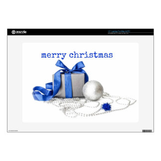 Blue And Silver Festive Art Laptop Decal