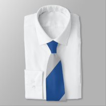 Blue and Silver Force Broad Regimental Stripe Tie