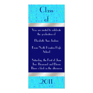 Blue and Silver Graduation Announcement