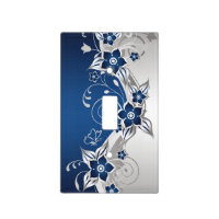 Blue Swirl Plates Zazzle