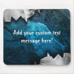 Blue and Silver Grunge Metal/Stone Design Mousepad
