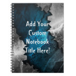 Blue and Silver Grunge Metal/Stone Design Note Books