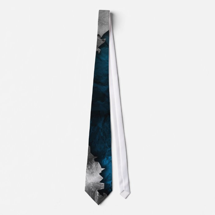 Blue and Silver Grunge Metal/Stone Design Tie