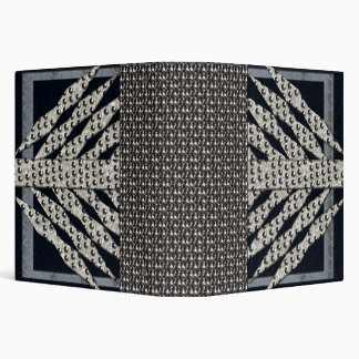Blue And Silver Metal Rivets 3 Ring Binder