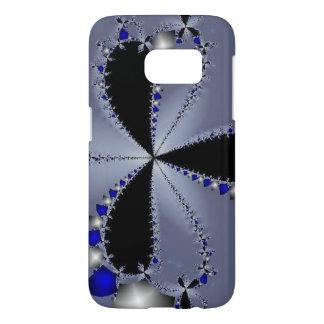 Blue and Silver Pinwheel Samsung Galaxy S7 Case