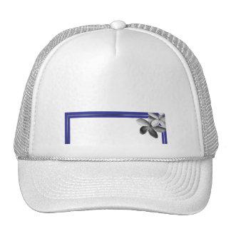 Blue and Silver Plumeria Trucker Hat
