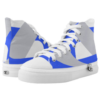Blue and Silver Queens Boomrocket Hi-Top