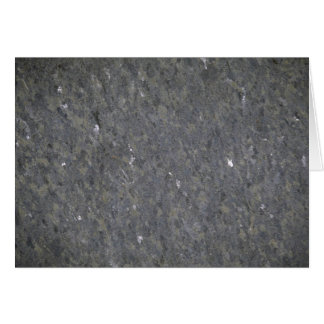 Blue and silver specked granite card