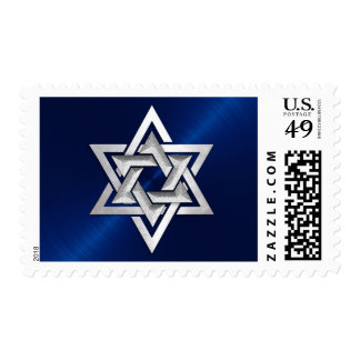 Blue and Silver Star of David Postage