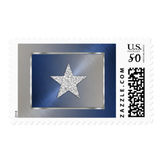 Blue and Silver Star Postage