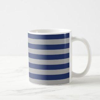 Blue and Silver Stripes Mug