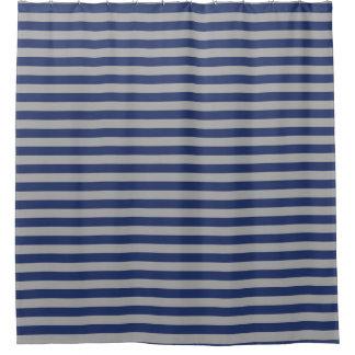 Stripes Silver Shower Curtains | Zazzle