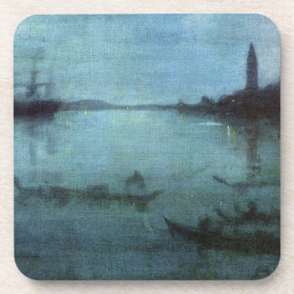 Blue and Silver The Lagoon Venice Beverage Coaster