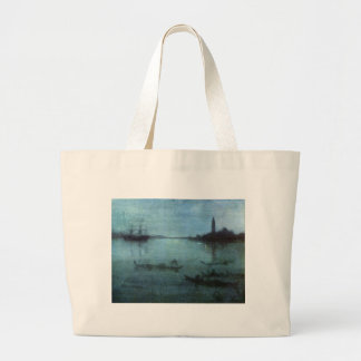 Blue and Silver The Lagoon Venice Large Tote Bag