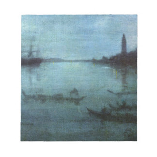 Blue and Silver The Lagoon Venice Notepad