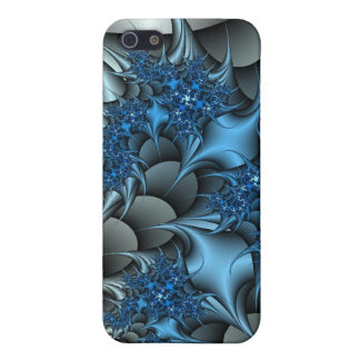 blue and silver thorns fractal  iPhone SE/5/5s case