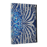 Blue and Silver Victorian Sparkle iPad Case