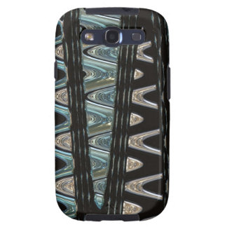 Blue and Silver Waves Galaxy S3 Case