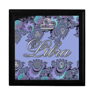 Blue and Silver Zodiac Sign Libra Gift Box