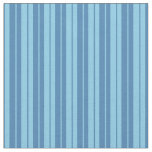 [ Thumbnail: Blue and Sky Blue Colored Lines Pattern Fabric ]