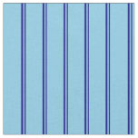 [ Thumbnail: Blue and Sky Blue Colored Striped/Lined Pattern Fabric ]
