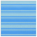 [ Thumbnail: Blue and Sky Blue Lined Pattern Fabric ]