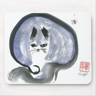 Blue and Spider Sumi-e in color Mousepads