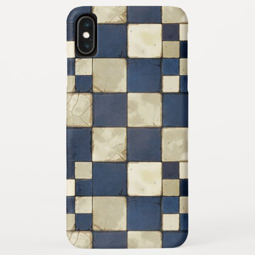 Blue And Tan Tile iPhone XS Max Case