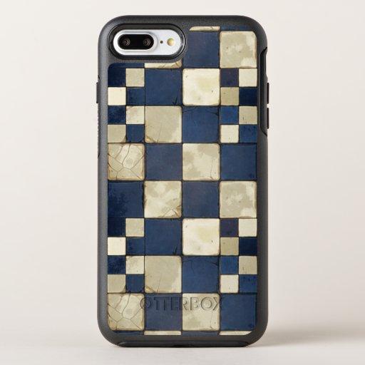 Blue And Tan Tile OtterBox Symmetry iPhone 8 Plus/7 Plus Case