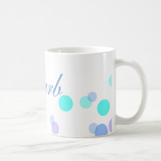 Blue and Teal Coffee Mug With Name