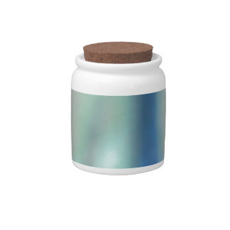 Blue and teal green sea glass candy dishes