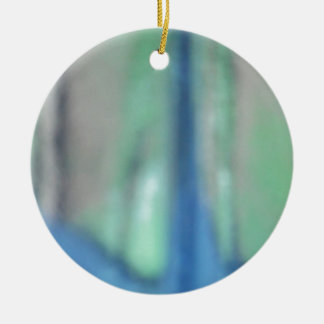 Blue and teal green sea glass ceramic ornament